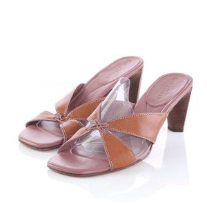 Cole Haan Brown Leather Heeled Sandals Slides